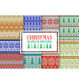 Set of traditional knitted Christmas patterns vector image vector image