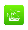 ship of columbus icon digital green vector image vector image