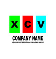 simple logo the three letters xcv are located on vector image vector image