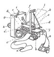 sphygmograph with all parts labeled vintage vector image vector image