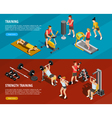 Sports Training Horizontal Banners vector image vector image