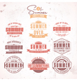 Summer Sales Labels vector image vector image