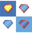 Superhero logo template blank super hero badge set vector image