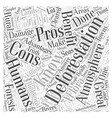 The Pros And Cons of Deforestation Word Cloud vector image vector image