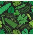 Tropical leavesbranches seamless patternGreen vector image vector image