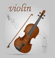 vuolin musical instruments stock vector image vector image