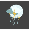 Weather rainy cloudy icon vector image