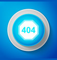 white page with a 404 error icon isolated vector image