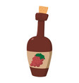 wine bottle icon cartoon style vector image vector image