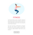 woman doing squats workout and fitness training vector image vector image