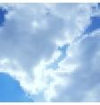 Pixel art sky photorealistic background vector image