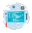 Application development program coding concept vector image