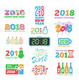 2018 new year calendar christmass text holiday vector image