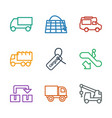 9 moving icons vector image vector image