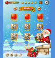 a christmas game template vector image vector image