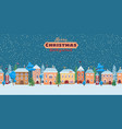 a snowy christmas street winter city panorama vector image
