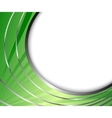 abstract green metal background vector image vector image