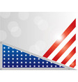 american flag background frame vector image vector image