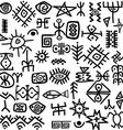 Ancient symbols set vector image