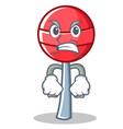 angry sweet lollipop character cartoon
