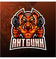 ant gunner esport mascot logo vector image vector image