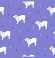 awesome seamless pattern with cute dog breed vector image