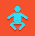 baby sign whitish icon on vector image vector image
