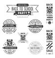 Back to school invitation emblems vector image