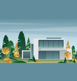 beautiful modern house in vector image