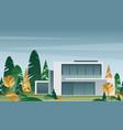 beautiful modern house vector image