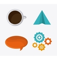 Blogging design Media icon Colorful vector image vector image