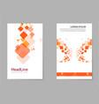 brochure design template flyers report business vector image vector image