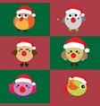 cartoon cute christmas bird vector image vector image