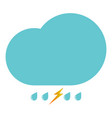 clouds with the drops blue and thundershtorm vector image vector image