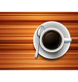 Coffee on a table vector image