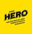 comics style font design super hero alphabet vector image