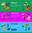 construction building concept banner horizontal vector image vector image