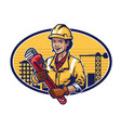 construction woman worker design vector image vector image