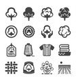 cotton icon vector image vector image
