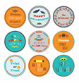 cute and colorful halloween circle labels set vector image vector image