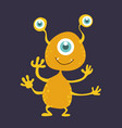 cute monster cartoon character 005 vector image vector image