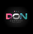 don d o n three letter logo icon design vector image vector image