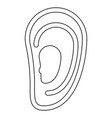 ear the black color icon vector image vector image