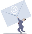 Email overload vector image vector image