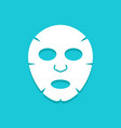 facial mask flat icon design face health care vector image