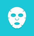 facial mask flat icon design face health care vector image vector image
