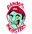 famous monsters vector image vector image