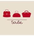 fashion red handbag vector image vector image