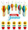festivity june vector image