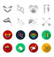 flag unicorn symbol arrows with heartgay set vector image